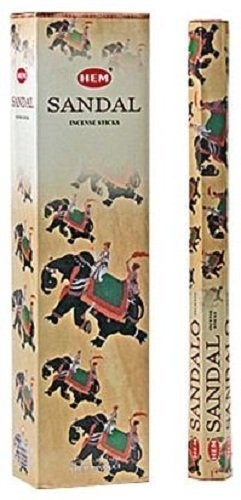 Sandal - Hem Jumbo 16 Inch Incense Sticks 10 Stick Hexagon Box (Set of 6)