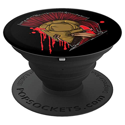 - Spartan Head | Greek Mythology Gift For A Warrior PopSockets Grip and Stand for Phones and Tablets