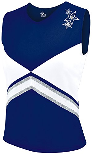 Revolution Cheer Uniform Shell Top - Navy Youth Medium -