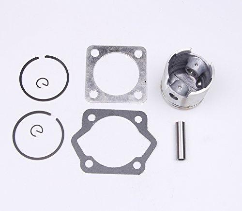2 stroke 80cc 47mm Piston Gasket Pin Ring Kit for Motorized Bicycle Bike Engine (2 Stroke Piston)