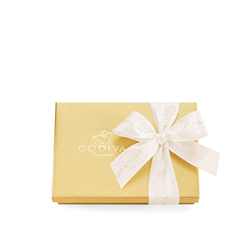 GODIVA Chocolatier Assorted Chocolate Gold Gift Box, Congratulations Ribbon, 19 pc.