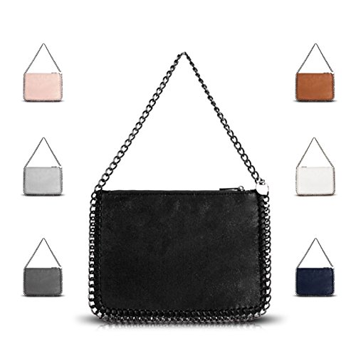 Designer White Handbag Women's Shoulder GN60624 Bag Edge Chain Stella Ladies Metallic 7wdvqO7