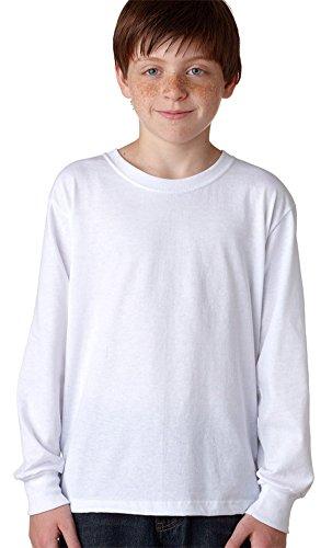 Jerzees Youth Heavyweight Blend Long-Sleeve T-Shirt, Wht, X-Large (Youth Blend Heavyweight Jerzees)