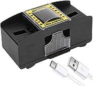 FSTgo Automatic Poker Card Shuffler 1-2 Decks Operated Electric Card Shuffling Machine for Home Party Club Cas