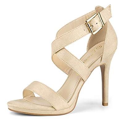 1de06e37ce415 Allegra K Women's Open Toe Crisscross Strap Stiletto High Heels