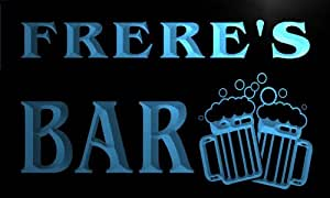 w049799-b FRERE Name Home Bar Pub Beer Mugs Cheers Neon Light Sign
