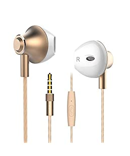 FusionTech® Noise Isolating In Ear Headphones Earphones with Microphone Pure Sound Powerful Bass Wired Earbuds Headset for iPhone, iPad, iPod, Samsung Smartphones and Tablets