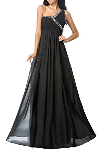 A Pailletten Schwarz 2016 linie Rock Bodenlang ein Braut traeger Chiffon Neu La Abendkleider Abiballkleider Partykleider Marie g70aqwnF