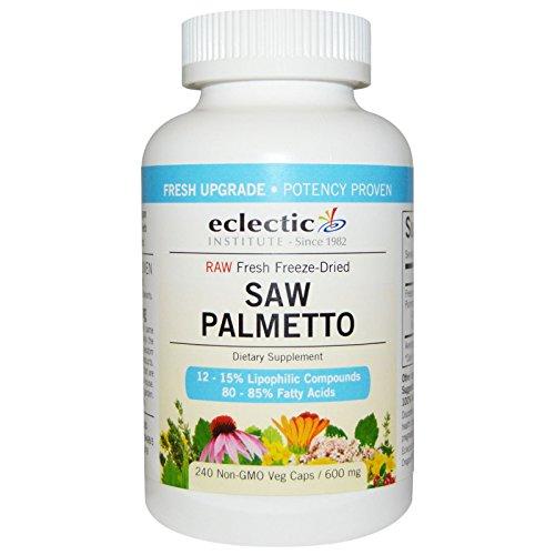 Eclectic Institute, Saw Palmetto, 600 mg, 240 Non-GMO Veggie Caps - 3PC
