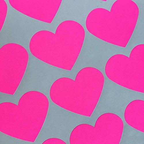 (Bakers Bling Jumbo Heart Stickers, 30 Neon Pink Heart Stickers)