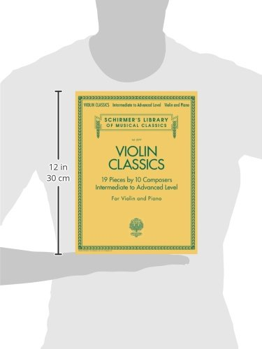 Violin Classics Schirmer Library of Classics Volume 2079 Intermediate to Advanced