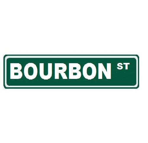 Bourbon Street Custom Street Sign 6x24