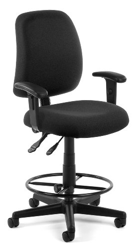 Ofm Stain Resistant Seating - Stool With Arms - 23-27