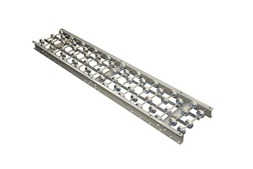 Skate Wheel Conveyor Aluminum Frame 24'' Wide 5' long. 20 wheels per foot with axles on 3'' centers. Compatible with Hytrol 3AW-24-20. Material handling roller conveyor.