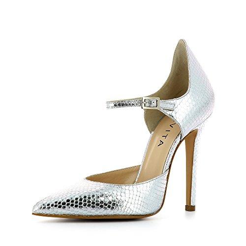 Vestir Piel Plata Para De Evita Zapatos Mujer Lisa Shoes wnWIXqxIv
