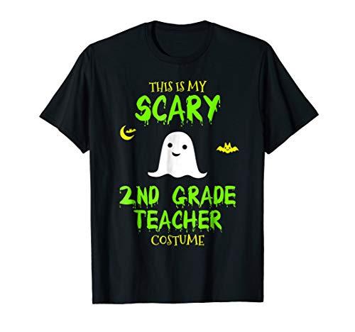 Mens Scary 2nd Second Grade Teacher Costume Halloween T-Shirt 2XL Black