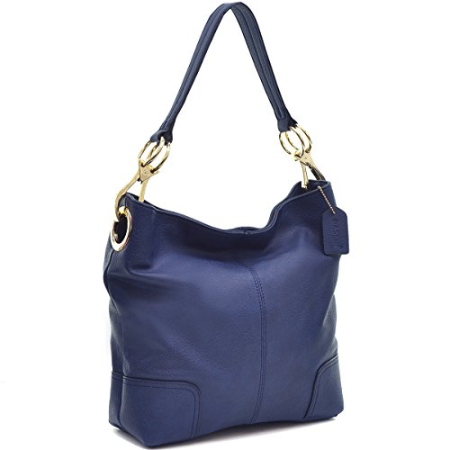 Dasein Classic Corner Patched Hobo (Blue)
