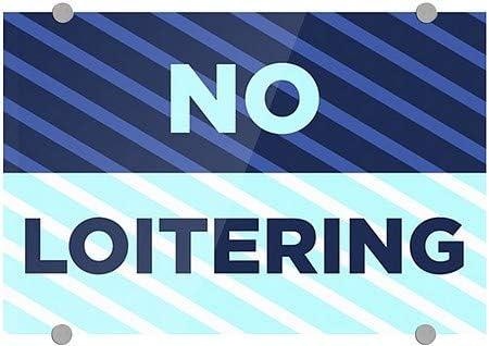 Stripes Blue Premium Brushed Aluminum Sign 5-Pack No Loitering CGSignLab 18x12