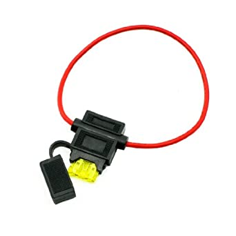 Uxcell BH708 Car Boat Truck 14# AWG Wire Fuse Holder Block, 12V ...
