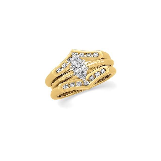 1/4 CT TW 14K Yellow Gold Diamond Ring Guard