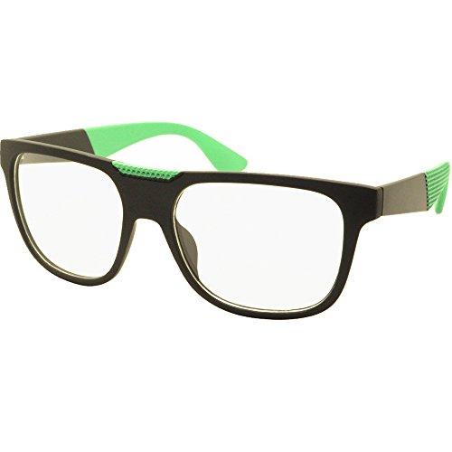 [FancyG® Fashion Way Style Metal Hinge Clear Lens Glasses Frame Eyewear - Black Green] (Funny Weird Halloween Costumes)