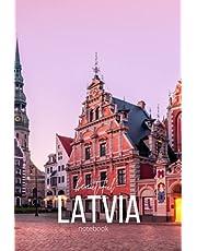 "Beautiful Latvia 6"" x 9"" notebook"