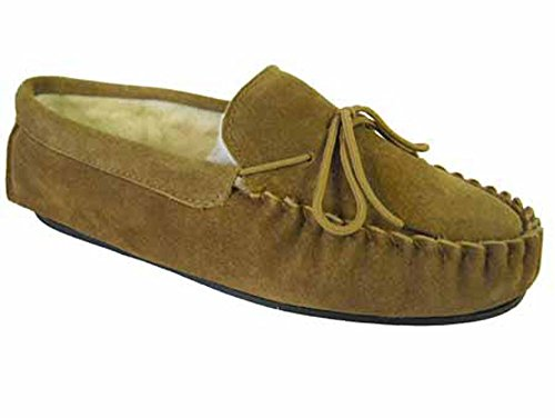 Tan Slip Brown Leather Genuine Gents Blue Tan Moccasin 12 Wool Lining Hard Mens Luxury Navy Slippers Suede On Comfy Sole Xx0HwXzt