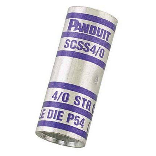 Panduit SCSS3//0-X Code Conductor Butt Splice Orange Color Code Short Barrel 3//4 Wire Strip Length 3//0 AWG Copper Conductor Size 0.64 OD 1.69 Length