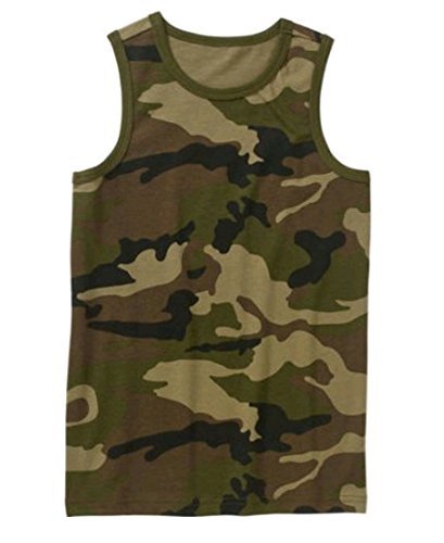 1ad99c6728a99 Amazon.com  Faded Glory Boy s Camo Sleeveless Graphic Tank Top ...