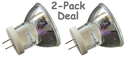 2pcs JCRM 12V 75W Donar Bulb for 3M 2500 Visalux 1 2 3 552 4000 Plu, XL3000 XL2500 - Acubite Hilux 200 250 - ALMORE 3442 OP2 - Coltene Whaledent C7927 Coltolux 2 3 4 75 II III IV Curing Dental Lamp