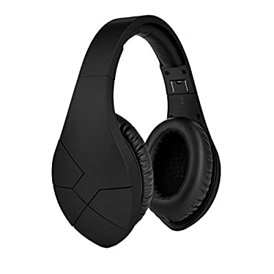 Velodyne vBold Over-Ear Bluetooth Headphone with Built-in Mic for Apple iPhone iPad and Android Devices (Matte Black)