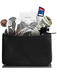 d4486d09b85 Genuine Leather Coin Pouch Made In U.S.A Change holder For Men And Woman Coin  Purse Size