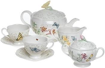 8-Piece Lenox Butterfly Meadow Tea Set Service for Two