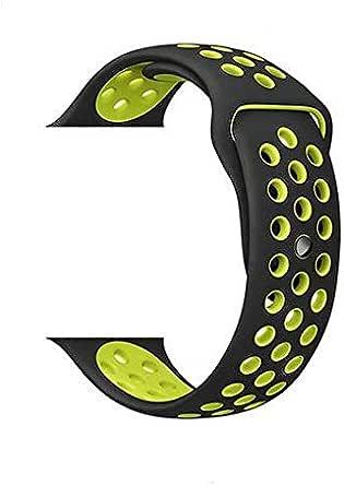 تنفس مع ثقوب ساعة سيليكون رياضية لساعة أبل 42 مم / 44 مم سوار حزام