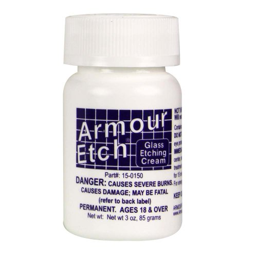 Armour Etch 2.8 Oz Etch Cream - Eyeglass Scratch Kit Remover