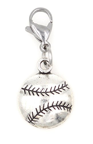 It's All About...You! Baseball Sports Clip on Charm Perfect for Necklaces Bracelets 103H ()
