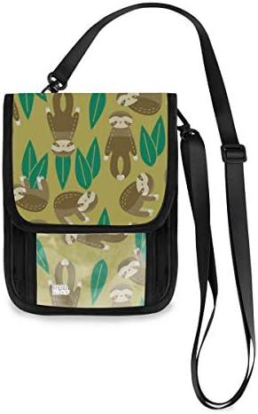 トラベルウォレット ミニ ネックポーチトラベルポーチ ポータブル サル 小さな財布 斜めのパッケージ 首ひも調節可能 ネックポーチ スキミング防止 男女兼用 トラベルポーチ カードケース