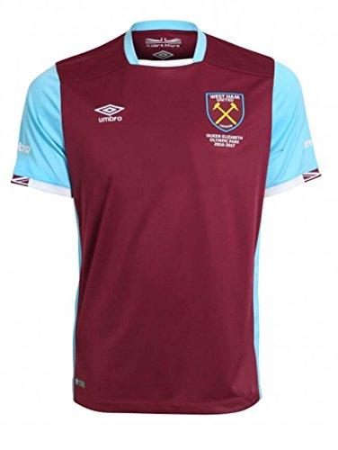 (Umbro 2016-2017 West Ham Home Football Soccer T-Shirt Jersey (Kids))