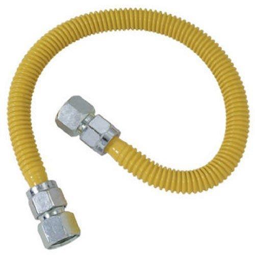 (BrassCraft CSSC22-24 P 3/4-Inch FIP x 3/4-Inch FIP x 24-Inch ProCoat Gas Appliance Connector, 5/8-Inch, OD 150,000 BTU)