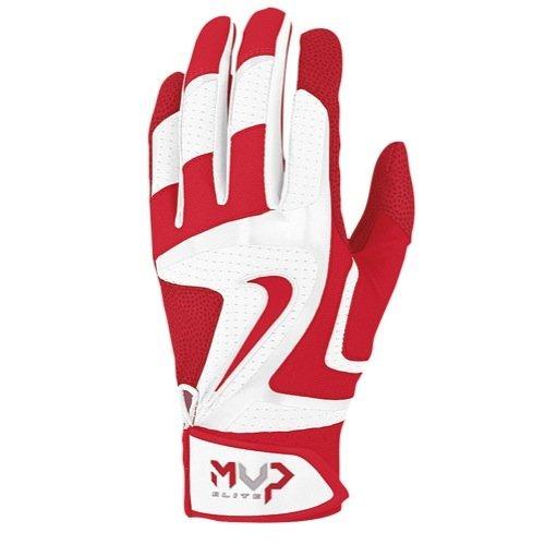 Nike MVP Elite Batting Gloves - White/Red - Medium GB0378-166-M