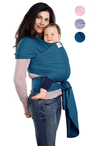 BABYWAYBE Wrap Sling Carrier for Infants and Newborn – Perfect Shower Gift – Breathable Soft Stretchy Carrier – Safe and Easy to Use – 4-in-1 Soft Carrier, Baby Sling, Postpartum Belt, Nursing Cover