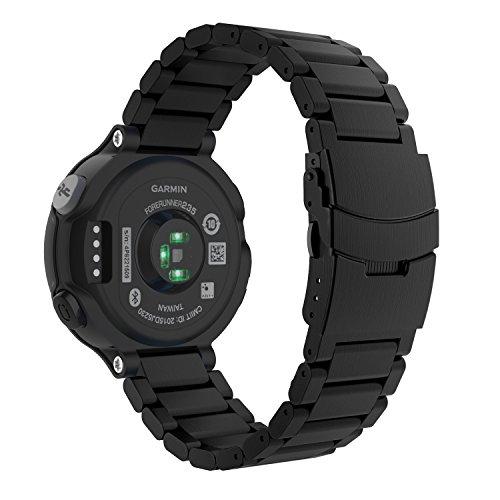 Cheap Garmin Forerunner 235 Watch Band, MoKo Universal Stainless Steel Watch Band Strap Bracelet for Garmin Forerunner 235 / 220 / 230 / 620 / 630 Smart Watch, Watch Not Included – BLACK