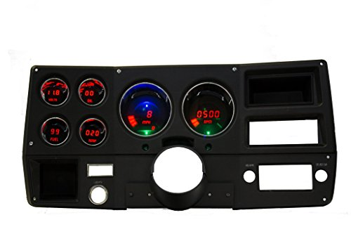 Intellitronix LED Digital 73-87 Chevy Truck Replacement Gauge Panel Red
