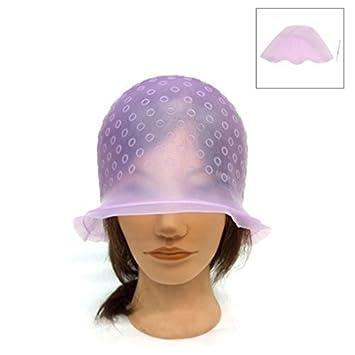 Labra la herramienta eDealMax Unisex rosada de silicona Tinte de Pelo del Sombrero resaltado Cap peluquería