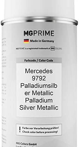 Mg Prime Autolack Sprühdosen Set Für Mercedes 9792 Palladiumsilber Metallic Palladium Silver Metallic Basislack Klarlack Spraydose 400ml Auto