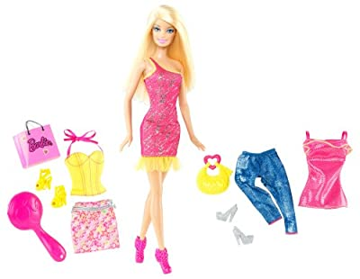 Barbie Doll And Fashions Barbie Pink Dress Giftset from Mattel