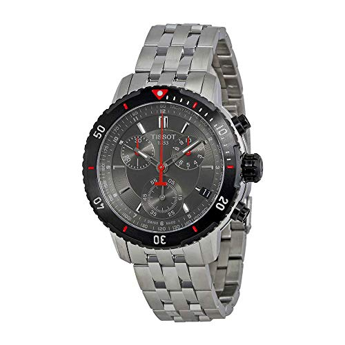 Tissot Men's T067.417.21.051.00 T-Sport Textured Dial Stainless Steel Watch (Best Price Tag Heuer Watches)