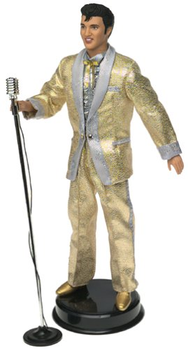 Elvis Timeless Treasures Gold Lame Suit King Of Rock and Roll Mattel Doll Action figure