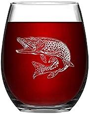 Rolig elegant vinglas gädda stjälkfritt vinglas lasergravering husdjur hund vilda djur drinkartiklar glas för whisky rödvin läsk mjölk present till mamma pappa vän fru make