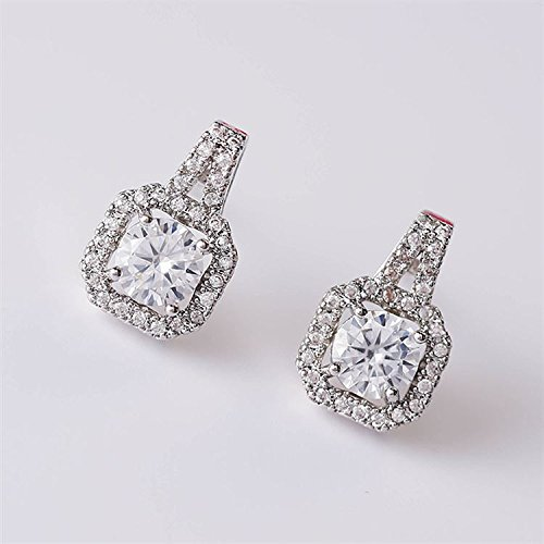 TKHNE Classic s925 needles star with Micro Pave carat diamond stud earrings fashion square diamond earrings earrings for women